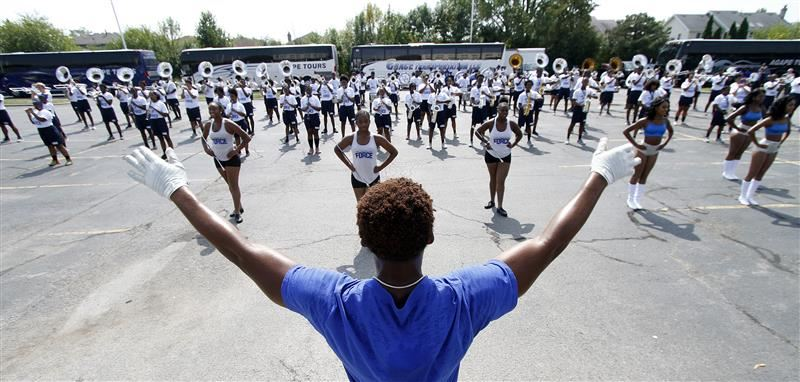 Hampton Marching Band performs at Southland